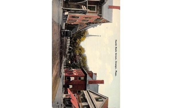 North Main Street Orange, Massachusetts Postcard
