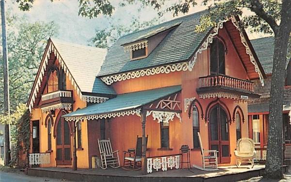 Gingerbread Cottage Oak Bluffs, Massachusetts Postcard