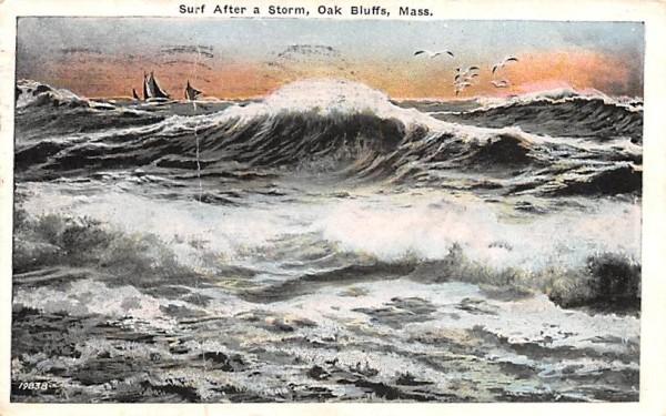 Surf After a Storm Oak Bluffs, Massachusetts Postcard