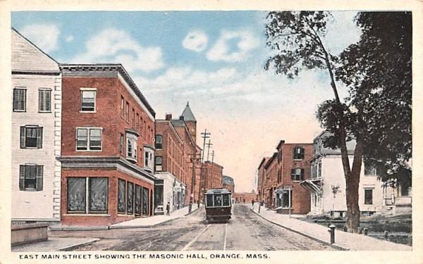 East Main Street Orange, Massachusetts Postcard