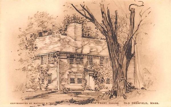 Frary House Old Deerfield, Massachusetts Postcard