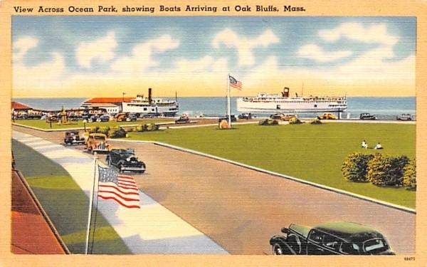 View Across Ocean Park Oak Bluffs, Massachusetts Postcard