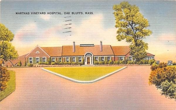 Marthas Vineyard Hospital Oak Bluffs, Massachusetts Postcard
