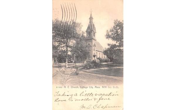 M.E. Church  Oak Bluffs, Massachusetts Postcard