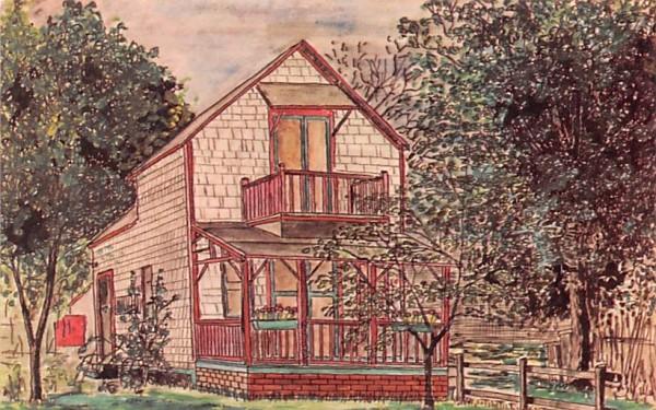 Tappan Zee Cottage Oak Bluffs, Massachusetts Postcard