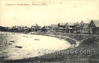 Cottages, North Shore - Pocasset, Massachusetts MA Postcard