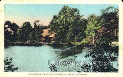 The Old Mill Pond - Pocasset, Massachusetts MA Postcard