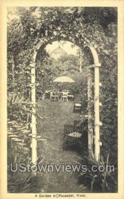 A Garden - Pocasset, Massachusetts MA Postcard