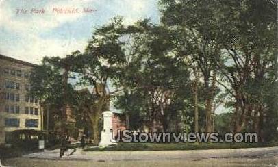 The Park - Pittsfield, Massachusetts MA Postcard