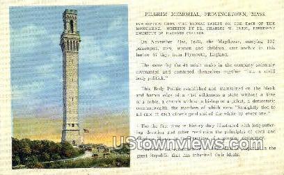 Pilgrim Memorial - Provincetown, Massachusetts MA Postcard
