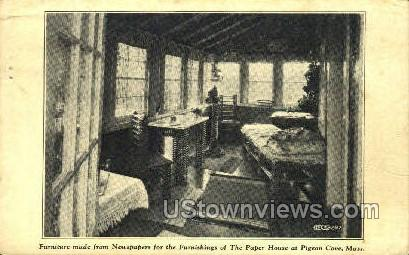 Furniture, Paper House - Pigeon Cove, Massachusetts MA Postcard