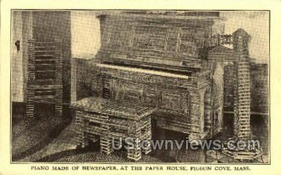 Piano, Paper House - Pigeon Cove, Massachusetts MA Postcard