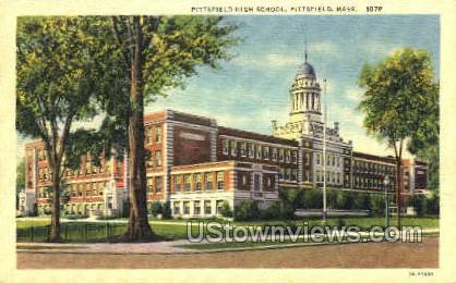 Pittsfield High School - Massachusetts MA Postcard