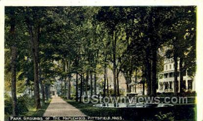 Park Grounds, The Maplewood - Pittsfield, Massachusetts MA Postcard
