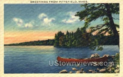 Greetings  - Pittsfield, Massachusetts MA Postcard