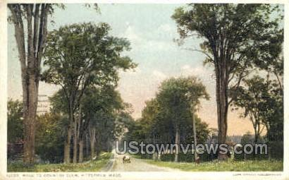 Road to Country Club - Pittsfield, Massachusetts MA Postcard