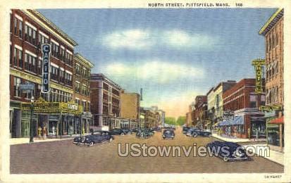 North St. - Pittsfield, Massachusetts MA Postcard
