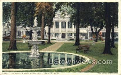 The Maplewood Entrance - Pittsfield, Massachusetts MA Postcard