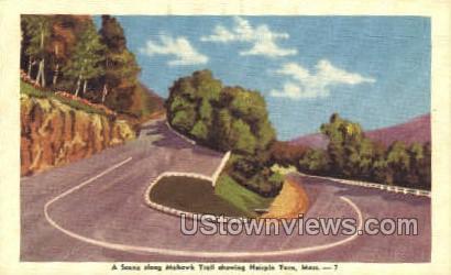 Hairpin Turn - Pittsfield, Massachusetts MA Postcard