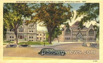 Public Library - Pittsfield, Massachusetts MA Postcard