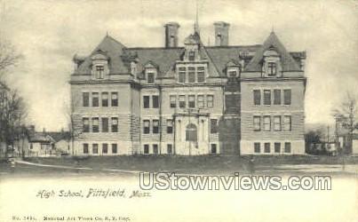 High School - Pittsfield, Massachusetts MA Postcard