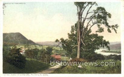 Road toe Cheshire - Pittsfield, Massachusetts MA Postcard