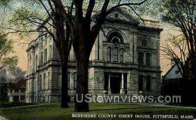 Berkshire County Court House - Pittsfield, Massachusetts MA Postcard
