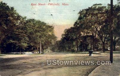 East St. - Pittsfield, Massachusetts MA Postcard