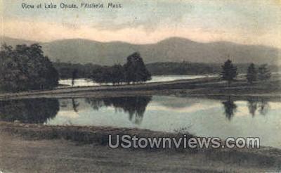 Lake Onota - Pittsfield, Massachusetts MA Postcard