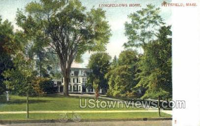 Longfellow House - Pittsfield, Massachusetts MA Postcard