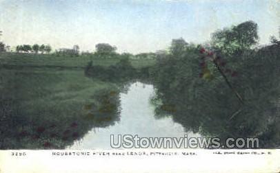Housatonic River - Pittsfield, Massachusetts MA Postcard