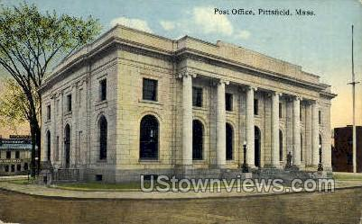 Post Office - Pittsfield, Massachusetts MA Postcard