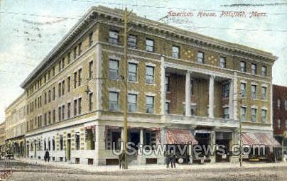American House - Pittsfield, Massachusetts MA Postcard