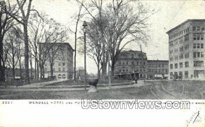 Wendell Hotel & Post Office - Pittsfield, Massachusetts MA Postcard