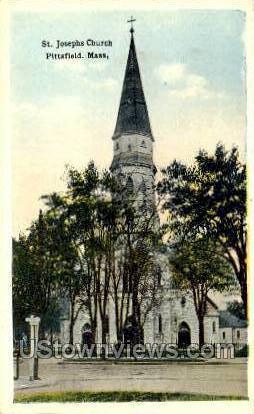 St. Josephs Church - Pittsfield, Massachusetts MA Postcard