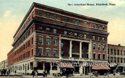 New American House - Pittsfield, Massachusetts MA Postcard