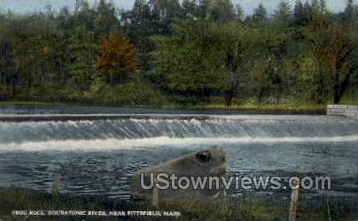 Frog Rock, Housatonic River - Pittsfield, Massachusetts MA Postcard