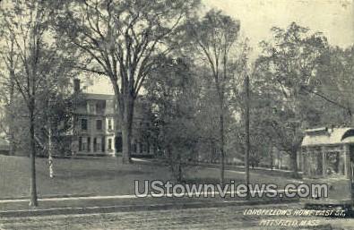 Longfellow's Home - Pittsfield, Massachusetts MA Postcard