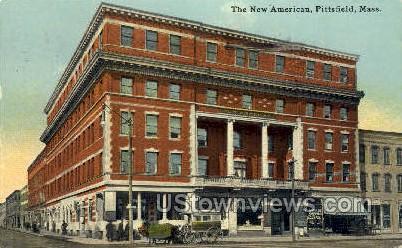 The New American - Pittsfield, Massachusetts MA Postcard