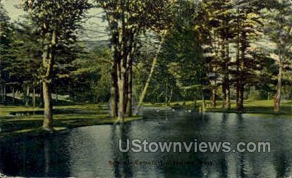 Cemetery - Pittsfield, Massachusetts MA Postcard
