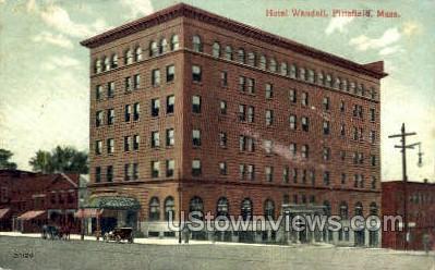 Hotel Wendell - Pittsfield, Massachusetts MA Postcard