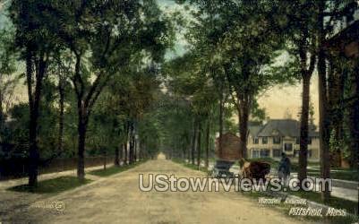 Wendell Ave. - Pittsfield, Massachusetts MA Postcard