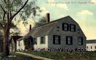 Old Harlow House - Plymouth, Massachusetts MA Postcard