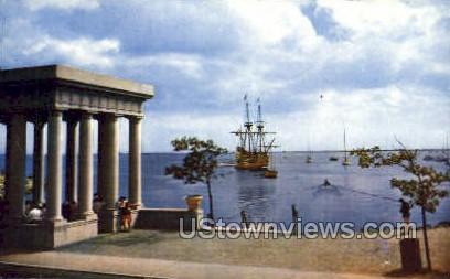 Mayflower 2, Plymouth Harbor - Massachusetts MA Postcard