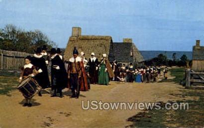 The Procession of Pilgrims - Plymouth, Massachusetts MA Postcard
