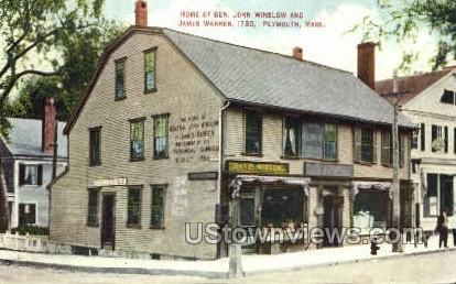 Home of Gen. John Winslow - Plymouth, Massachusetts MA Postcard