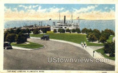 The Boat Landing - Plymouth, Massachusetts MA Postcard