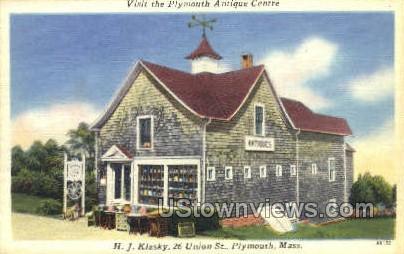 Plymouth Antique Centre - Massachusetts MA Postcard