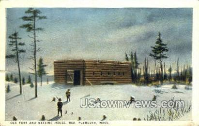 Old Fort & Meeting House - Plymouth, Massachusetts MA Postcard