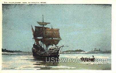 The Mayflower - Plymouth, Massachusetts MA Postcard